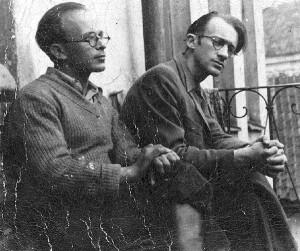 Avraham Sutzkever und Shmerke Kaczerginski